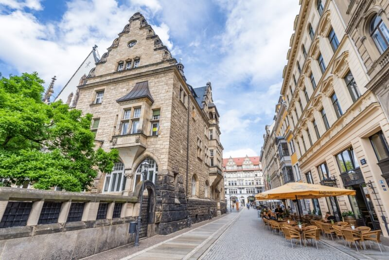 Beautiful architecture in Leipzig, Germany, one of the best day trips from Berlin